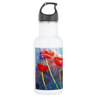 Poppies 18oz Water Bottle