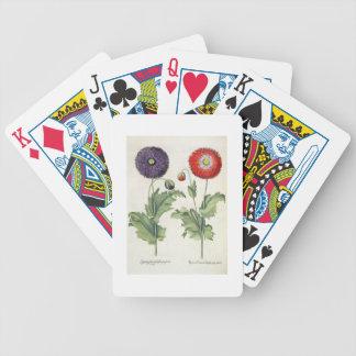 Poppies 1 Papaver flore multiplici incarnato 2 P Bicycle Card Deck