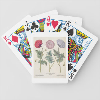 Poppies 1 Papaver multiplex albumoris rubicundis Bicycle Poker Cards