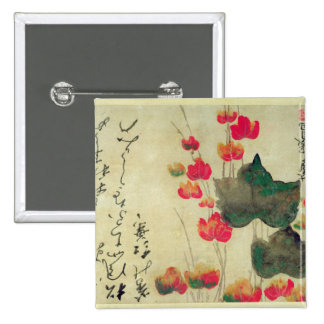 Poppies 2 Inch Square Button