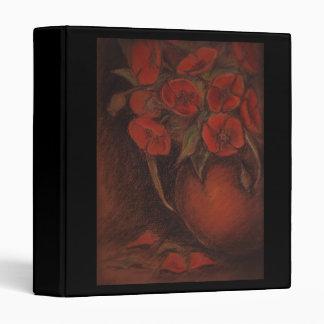 poppies 3 ring binder
