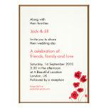 Poppies 5x7 custom announcements