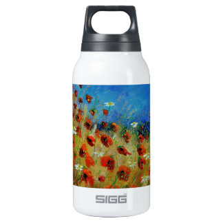 poppies 672121.jpg insulated water bottle