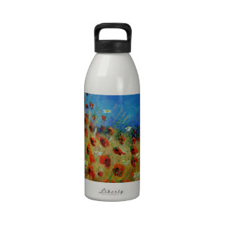 poppies 672121.jpg water bottles