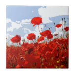 POPPIES 6 SMALL SQUARE TILE