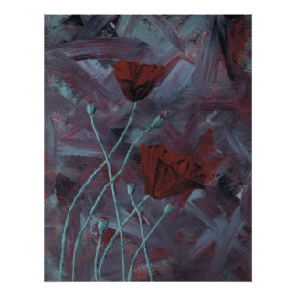 Poppies Abstract  Poster