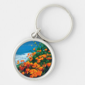 Poppies along the Pacific Coast near Big Sur Keychain
