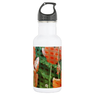 poppies altered image 18oz water bottle