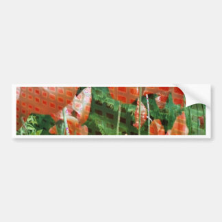 poppies altered image bumper stickers