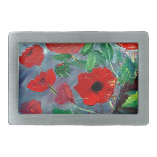 Poppies and a Clay Pot Belt Buckle