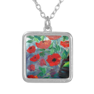 Poppies and a Clay Pot Custom Jewelry