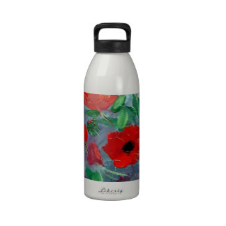 Poppies and a Clay Pot Drinking Bottles