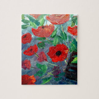 Poppies and a Clay Pot Jigsaw Puzzle
