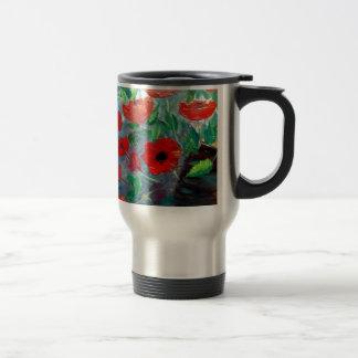 Poppies and a Clay Pot Travel Mug