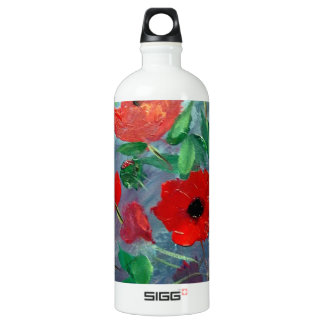 Poppies and a Clay Pot Water Bottle