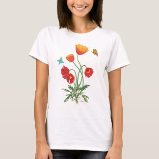 Poppies and Butterflies T-Shirt