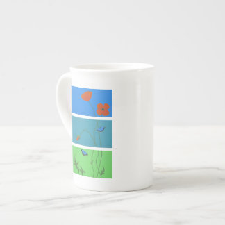 Poppies and Butterflies Tea Cup