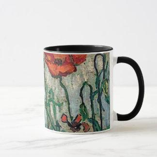 Poppies and Butterflies Van Gogh Fine Art Mug