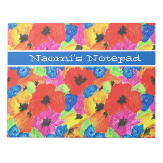 Poppies and Cornflowers Customizable Notepad