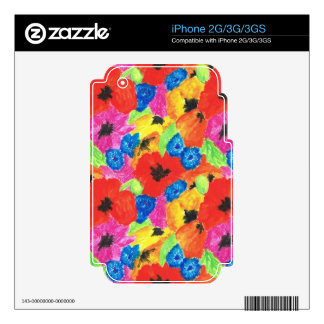 Poppies and Cornflowers iPhone 2G, 3G, 3GS Skin Skins For The iPhone 3G
