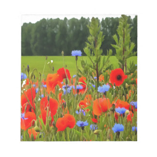 Poppies And Cornflowers Notepad