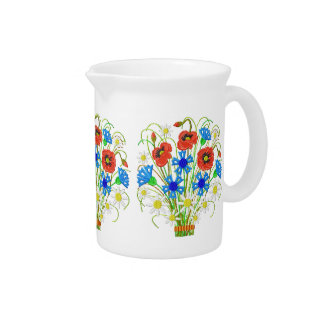 Poppies and Cornflowers Pitcher