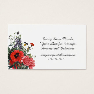 Poppies and Foxgloves Bouquet Business Card