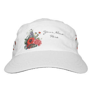 Poppies and Foxgloves Bouquet Headsweats Hat