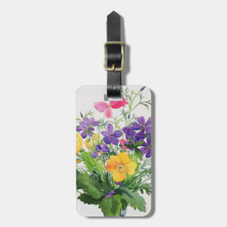 Poppies and Geraniums Luggage Tag