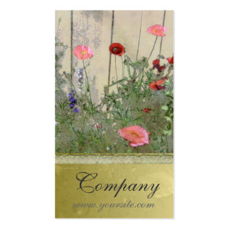 Poppies and Gold Business Card