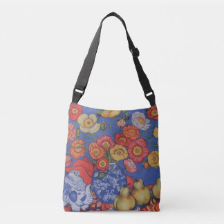 Poppies and Pears Crossbody Bag