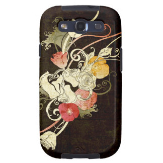 Poppies and roses case samsung galaxy SIII cover