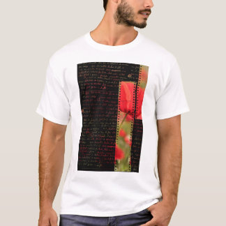 Poppies and text T-Shirt
