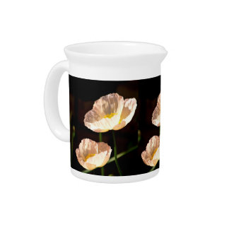 Poppies and their meaning beverage pitcher