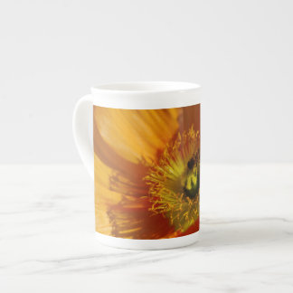 Poppies and their meaning tea cup