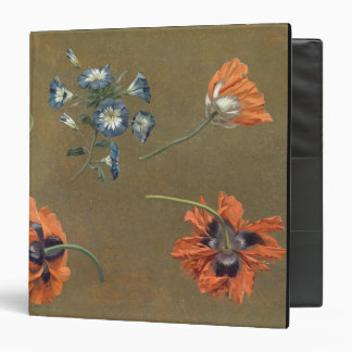 Poppies and Tradascanthus (oil on canvas) 3 Ring Binders