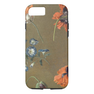 Poppies and Tradascanthus (oil on canvas) iPhone 7 Case