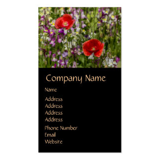 Poppies and Wild Flowers Double-Sided Standard Business Cards (Pack Of 100)