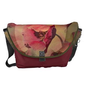 Poppies, Artistic digital art Messenger bag