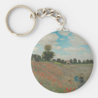 Poppies at Argenteuil (1873) Keychain