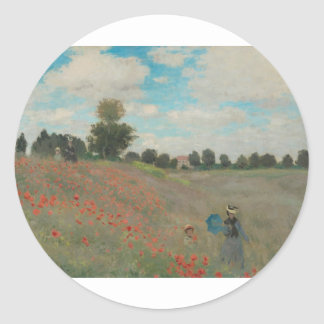 Poppies at Argenteuil (1873) Stickers