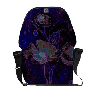 Poppies at Midnight Courier Bags