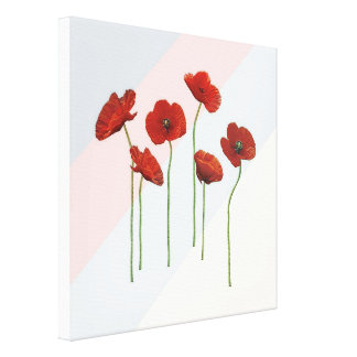 Poppies At Play Stretched Canvas Print
