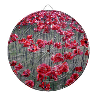 Poppies at the Tower of London Dart Board
