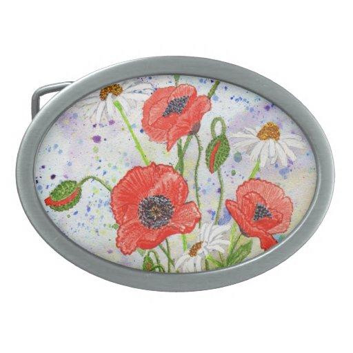 'Poppies' Belt Buckle