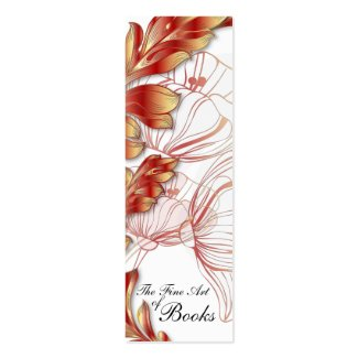 Poppies Bookmark Double-Sided Mini Business Cards (Pack Of 20)