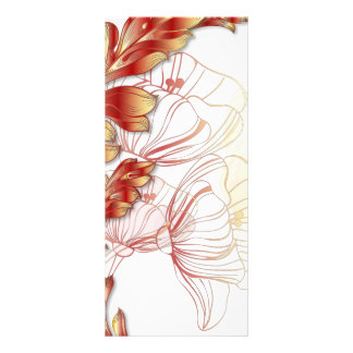 Poppies Bookmark Extra Large - Red & Gold Personalized Rack Card