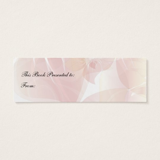 Poppies Bookmark Mini Business Card