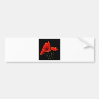 """""""Poppies"""" Bumper Sticker"""