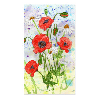 'Poppies' Business Card